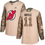 Wholesale Cheap Adidas Devils #11 Brian Boyle Camo Authentic 2017 Veterans Day Stitched Youth NHL Jersey