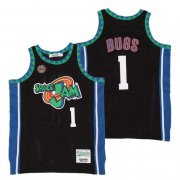 Wholesale Cheap Men's Space Jam #1 Bugs Bunny Black Soul Swingman Basketball Jersey