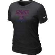 Wholesale Cheap Women's Nike New York Giants Critical Victory NFL T-Shirt Black
