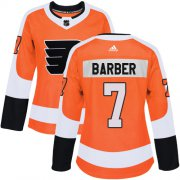 Wholesale Cheap Adidas Flyers #7 Bill Barber Orange Home Authentic Women's Stitched NHL Jersey