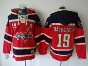 Wholesale Cheap Capitals #19 Nicklas Backstrom Red Sawyer Hooded Sweatshirt Stitched NHL Jersey