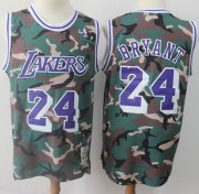 Wholesale Cheap Swingman Lakers #24 Kobe Bryant Camo Stitched Basketball Jersey