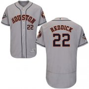 Wholesale Cheap Astros #22 Josh Reddick Grey Flexbase Authentic Collection 2019 World Series Bound Stitched MLB Jersey