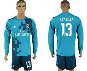Wholesale Cheap Real Madrid #13 K.Casilla Sec Away Long Sleeves Soccer Club Jersey