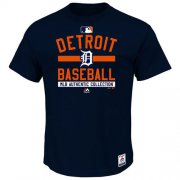 Wholesale Cheap Detroit Tigers Majestic Big & Tall Authentic Collection Team Property T-Shirt Navy