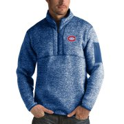Wholesale Cheap Montreal Canadiens Antigua Fortune Quarter-Zip Pullover Jacket Blue