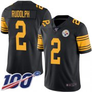Wholesale Cheap Nike Steelers #2 Mason Rudolph Black Men's Stitched NFL Limited Rush 100th Season Jersey
