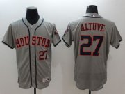 Wholesale Cheap Astros #27 Jose Altuve Grey Flexbase Authentic Collection Stitched MLB Jersey