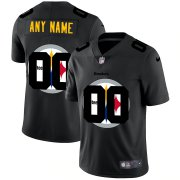 Wholesale Cheap Pittsburgh Steelers Custom Men's Nike Team Logo Dual Overlap Limited NFL Jersey Black