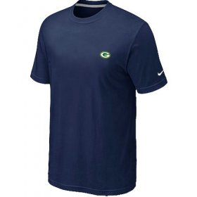 Wholesale Cheap Nike Green Bay Packers Chest Embroidered Logo T-Shirt Blue