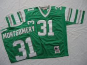 Wholesale Cheap Mitchell And Ness Eagles #31 Wilbert Montgomery Green Stitched Throwback NFL Jersey