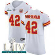 Wholesale Cheap Nike Chiefs #42 Anthony Sherman White Super Bowl LIV 2020 Men's Stitched NFL New Elite Jersey