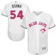 Wholesale Cheap Blue Jays #54 Roberto Osuna White Flexbase Authentic Collection Mother's Day Stitched MLB Jersey