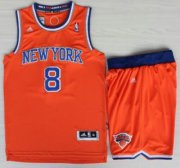 Wholesale Cheap New York Knicks #8 JR Smith Orange Revolution 30 Swingman Jersey Shorts Suits