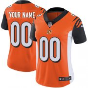 Wholesale Cheap Nike Cincinnati Bengals Customized Orange Alternate Stitched Vapor Untouchable Limited Women's NFL Jersey