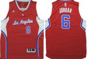 Wholesale Cheap Los Angeles Clippers #6 DeAndre Jordan Revolution 30 Swingman 2014 New Red Jersey