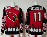Wholesale Cheap Nike Cardinals #11 Larry Fitzgerald Red/Black Men's Ugly Sweater