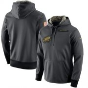 Wholesale Cheap Men's Philadelphia Eagles Nike Anthracite Salute to Service Player Performance Hoodie