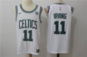 Wholesale Cheap Men\'s Boston Celtics #11 Kyrie Irving White Stitched NBA Nike Revolution 30 Swingman Jersey