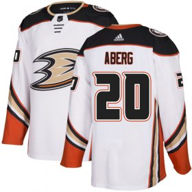 Wholesale Cheap Adidas Ducks #20 Pontus Aberg White Road Authentic Stitched NHL Jersey