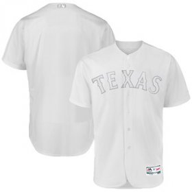 Wholesale Cheap Texas Rangers Blank Majestic 2019 Players\' Weekend Flex Base Authentic Team Jersey White