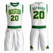 Wholesale Cheap Boston Celtics #20 Gordon Hayward White Nike NBA Men's City Authentic Edition Suit Jersey