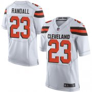 Wholesale Cheap Nike Browns #23 Damarious Randall White Men's Stitched NFL Elite Jersey