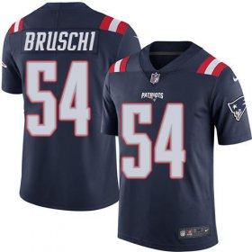 Wholesale Cheap Nike Patriots #54 Tedy Bruschi Navy Blue Men\'s Stitched NFL Limited Rush Jersey