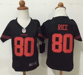 Wholesale Cheap Toddler Nike 49ers #80 Jerry Rice Black Alternate Stitched NFL Elite Jersey