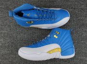 Wholesale Cheap Air Jordan 12 Retro Shoes University Blue/white-gold