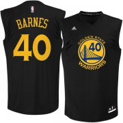 Wholesale Cheap Golden State Warriors 40 Harrison Barnes Black Fashion Replica Jersey