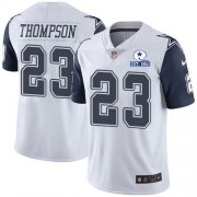 Wholesale Cheap Nike Cowboys #23 Darian Thompson White Men's Stitched With Established In 1960 Patch NFL Limited Rush Jersey