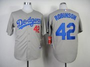 Wholesale Cheap Dodgers #42 Jackie Robinson Grey Cool Base Stitched MLB Jersey