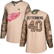 Wholesale Cheap Adidas Red Wings #40 Henrik Zetterberg Camo Authentic 2017 Veterans Day Stitched Youth NHL Jersey