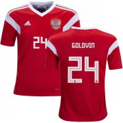 Wholesale Cheap Russia #24 Golovin Home Kid Soccer Country Jersey