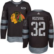 Wholesale Cheap Adidas Blackhawks #32 Michal Rozsival Black 1917-2017 100th Anniversary Stitched NHL Jersey