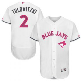 Wholesale Cheap Blue Jays #2 Troy Tulowitzki White Flexbase Authentic Collection Mother\'s Day Stitched MLB Jersey
