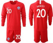 Wholesale Cheap Chile #20 Meneses Home Long Sleeves Soccer Country Jersey