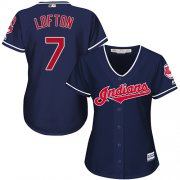 Wholesale Cheap Indians #7 Kenny Lofton Navy Blue Alternate Women's Stitched MLB Jersey