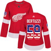 Wholesale Cheap Adidas Red Wings #59 Tyler Bertuzzi Red Home Authentic USA Flag Women's Stitched NHL Jersey