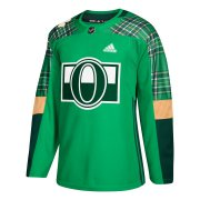Wholesale Cheap Adidas Senators Blank adidas Green St. Patrick's Day Authentic Practice Stitched NHL Jersey