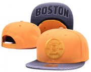 Wholesale Cheap NHL Boston Bruins Team Logo Yellow Mitchell & Ness Adjustable Hat
