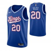 Wholesale Cheap Men's Sacramento Kings #20 Harry Giles Blue 2019-20 Hardwood Classics Jersey
