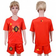 Wholesale Cheap Belgium Blank Red Home Kid Soccer Country Jersey