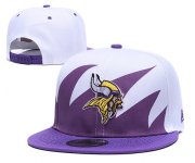 Wholesale Cheap NFL Minnesota Vikings Team Logo Purple White Adjustable Hat