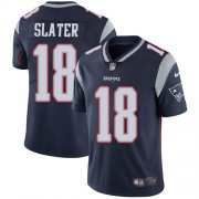 Wholesale Cheap Nike Patriots #18 Matt Slater Navy Blue Team Color Men's Stitched NFL Vapor Untouchable Limited Jersey