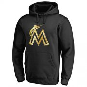 Wholesale Cheap Miami Marlins Gold Collection Pullover Hoodie Black