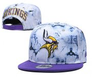 Wholesale Cheap Vikings Team Logo Smoke Purple Adjustable Hat TX