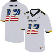 Wholesale Cheap Missouri Tigers 12 Johnathon Johnson White USA Flag Nike College Football Jersey