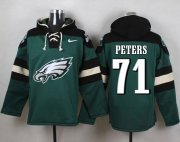 Wholesale Cheap Nike Eagles #71 Jason Peters Midnight Green Player Pullover NFL Hoodie